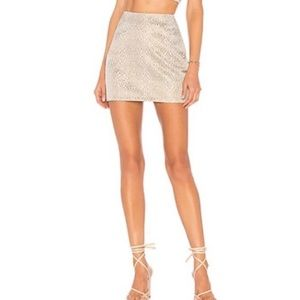 NWOT by the way. Jaquard Mini Skirt